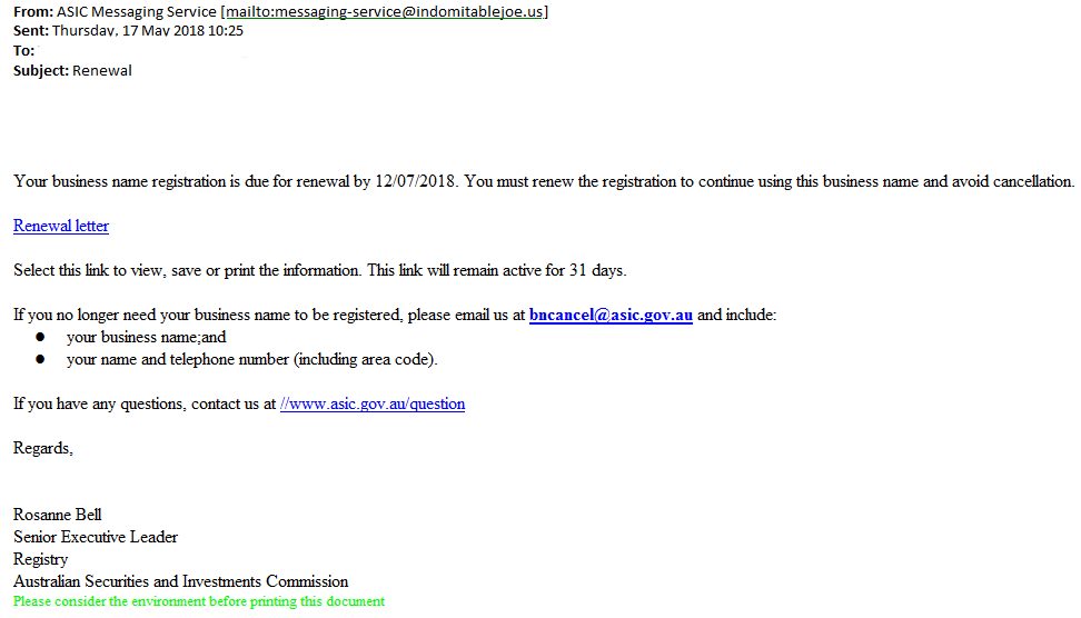 scam email 20180517