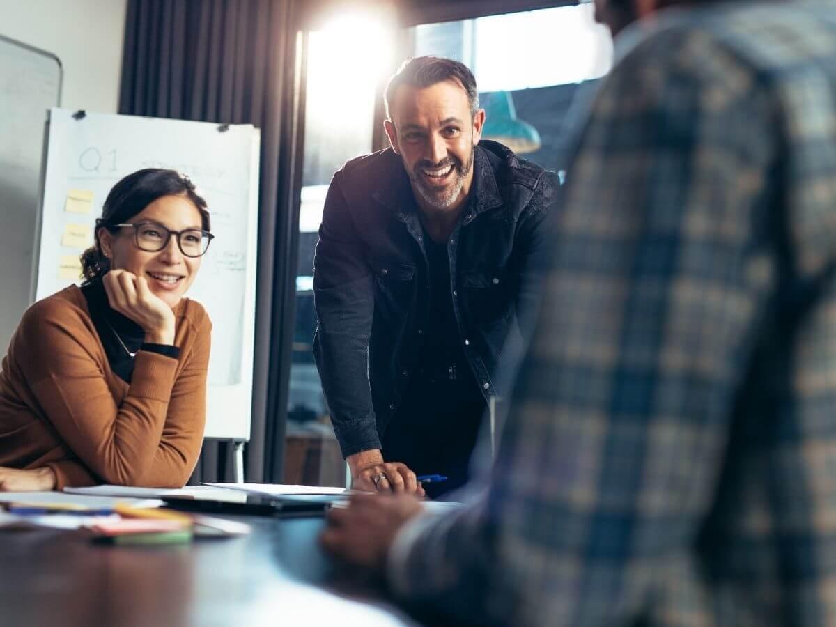 A Virtual CFO in a board meeting