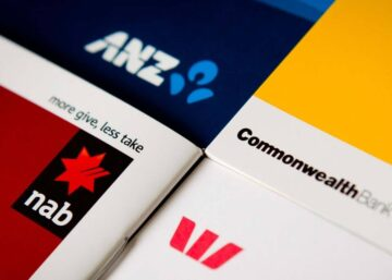 Image showing the logos of the big four banks in Australia